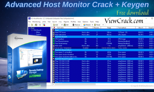 Advanced Host Monitor Crack 12.60 + Serial Key Download