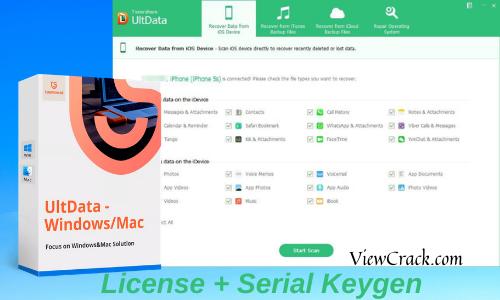 Tenorshare UltData 9.2.2.11 Crack + Serial Key 2021 Download Full