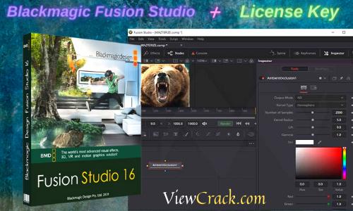 Blackmagic Fusion Studio 16.2.4 Crack + Keygen With Torrent Latest[2021]